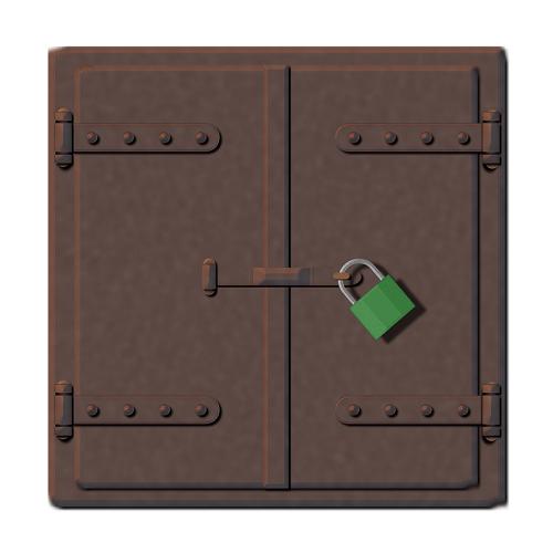فتح قفل حديد